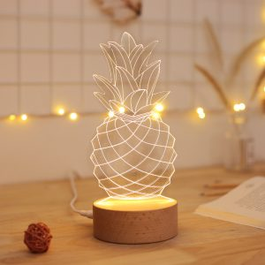 lampe ananas 3d ambiance