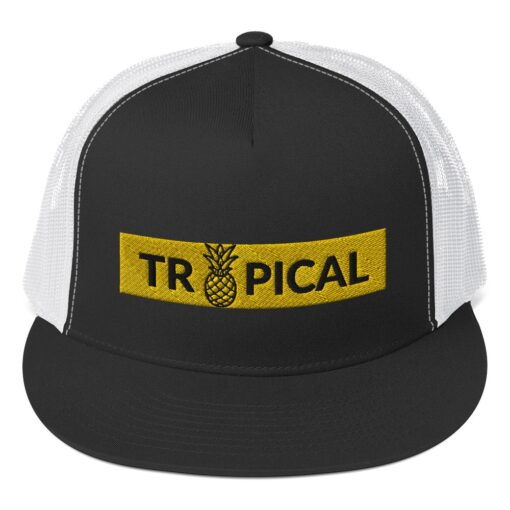 casquette ananas broderie tropical