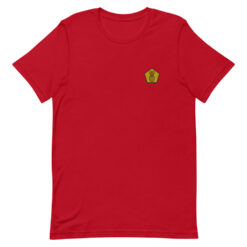 t-shirt coton rouge broderie ananas