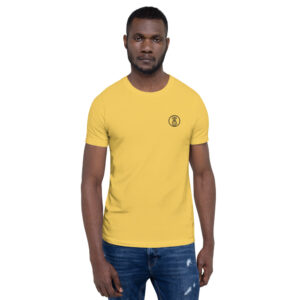 t-shirt homme broderie ananas jaune