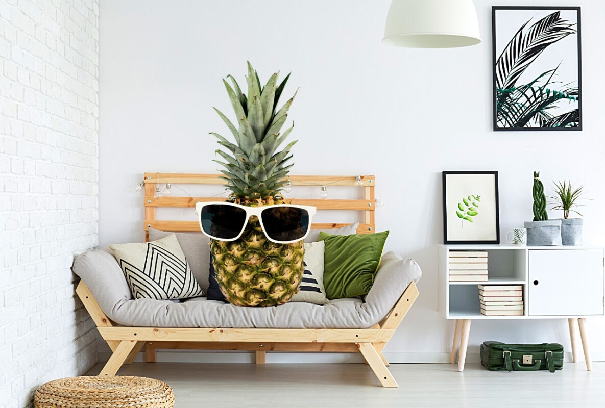 décoration ananas ambiance tropicale