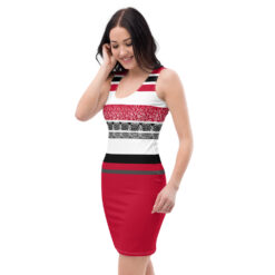 robe ananas moulante rouge tropical