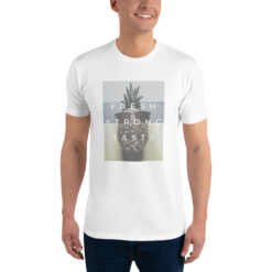 t-shirt ananas pour homme fresh strong tasty blanc