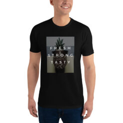 t-shirt ananas pour homme fresh strong tasty noir